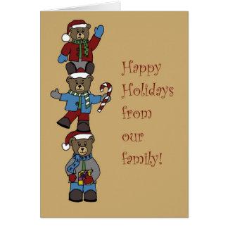 Cartão Três ursos empilhados
