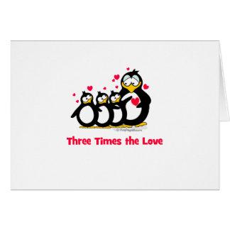 Cartão três vezes o amor