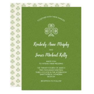 Cartão Trevo celta do nó que Wedding 2