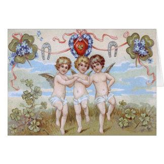 Cartão Trevo da ferradura do anjo do querubim
