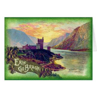Cartão Trevo do ouro de Donegal do castelo de Glenveigh
