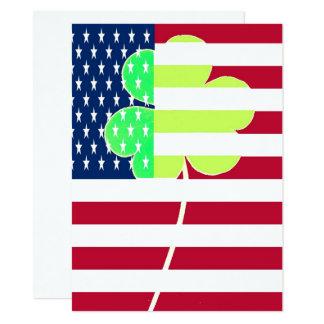Cartão Trevo irlandês St Patrick do trevo da bandeira