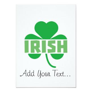 Cartão Trevo irlandês Z9t2d do cloverleaf