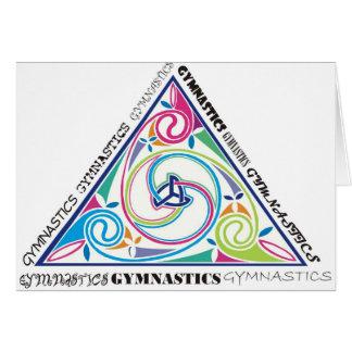 Cartão Triângulo do céltico da ginástica