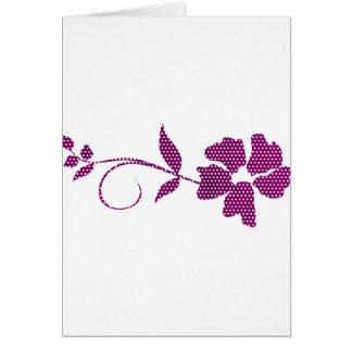 Cartão triângulos do rosa quente