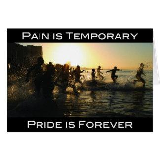 Cartão Triathlon - a dor é provisória