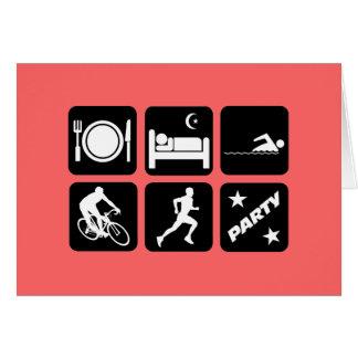 Cartão Triathlon engraçado