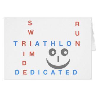 Cartão Triathlon eu sou dedicado