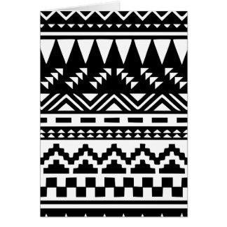 Cartão Tribal asteca preto e branco