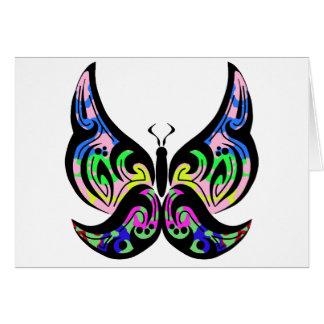 Cartão tribal da borboleta