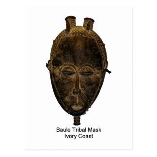 Cartão tribal da máscara de Baule