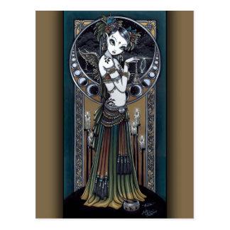 Cartão tribal do anjo da tempestade da fusão do