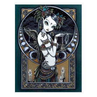 Cartão tribal do anjo do dançarino da fusão do