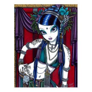 Cartão tribal do dançarino de barriga da fusão de