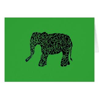 Cartão tribal do elefante do aText feito sob