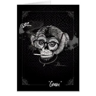 Cartão tribal do grama