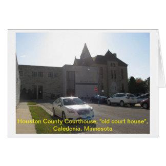 """Cartão Tribunal """"o tribunal velho """" do Condado de Houston"""