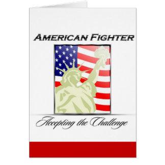 Cartão Tributo americano da liberdade do lutador