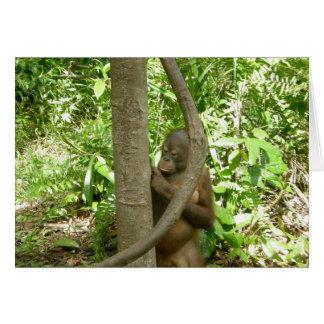 Cartão Tributo do dia da apreciação do orangotango