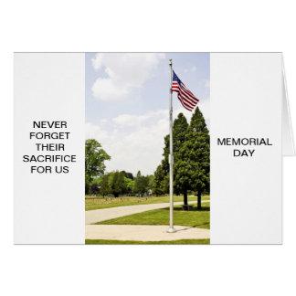Cartão Tributo do dia do memorial/veteranos