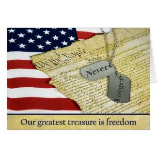 Cartão Tributo patriótico