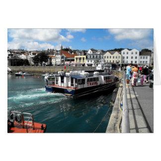 Cartão Trident V, porto de St Peter, Guernsey