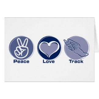 Cartão Trilha do amor da paz