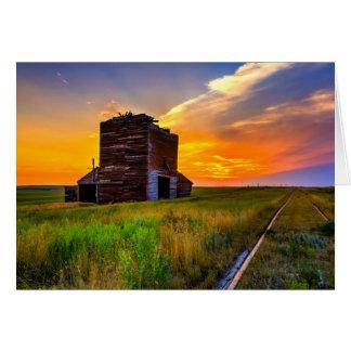 Cartão Trilhas de elevador e de estrada de ferro de grão