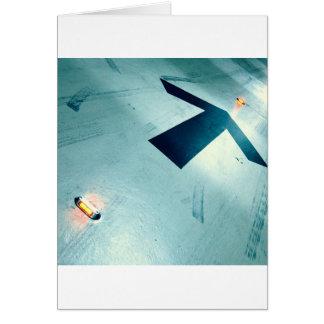 Cartão Trilhas legal do abstrato da pista de decolagem