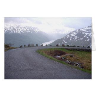 Cartão Trilhos 2008 da segurança de Noruega