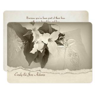 Cartão Trillium na renovação do voto de casamento do tom