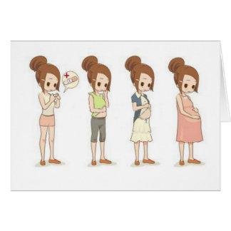 Cartão Trimestres da gravidez