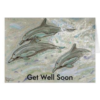 Cartão Trio do golfinho - obtenha bem logo