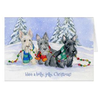 Cartão Trio do Scottie do Natal