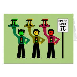 Cartão Trio temperamental do sinal de trânsito ao lado do