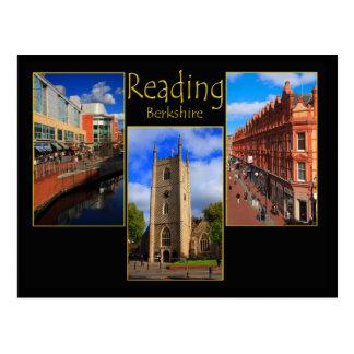 Cartão triplo da vista da leitura, Berkshire Cartão Postal