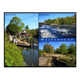 Cartão triplo da vista de Maidenhead