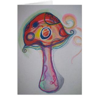 Cartão Trippy do cogumelo - Hippie Notecard vazio