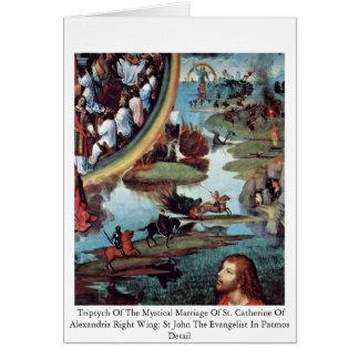 Cartão Triptych do casamento Mystical de St. Catherine