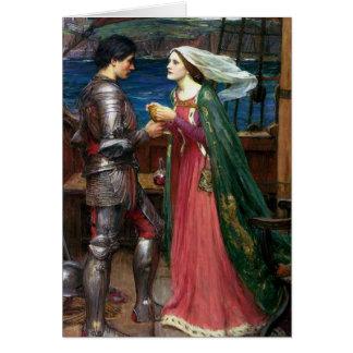 Cartão Tristan e Isolde com a poção