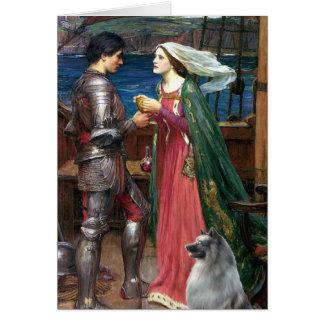 Cartão Tristan e Isolde - Keeshond (c)