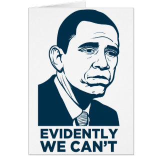 Cartão triste de Obama