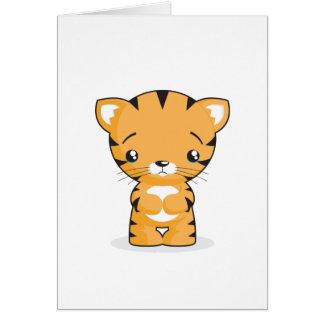 Cartão triste do gatinho
