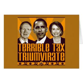 Cartão Triumvirate terrível do imposto