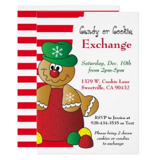 Cartão Troca do biscoito & dos doces do pão-de-espécie do