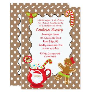 Cartão Troca quente do biscoito dos Cocos & dos