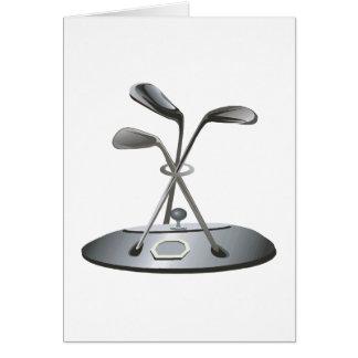 Cartão Troféu do golfe