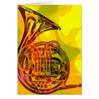 Cartão Trompa francesa