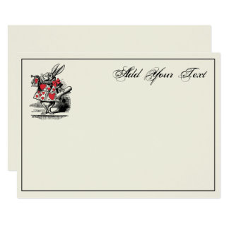 Cartão Trompetista branca Alice da corte do coelho no