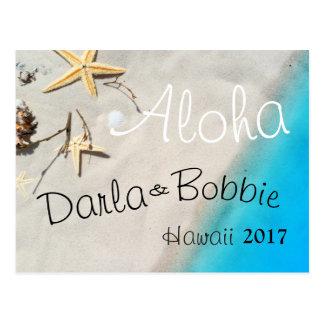 cartão tropical da areia da praia